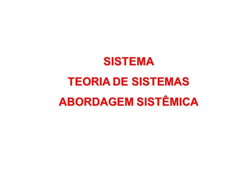SISTEMA TEORIA DE SISTEMAS ABORDAGEM SISTÊMICA