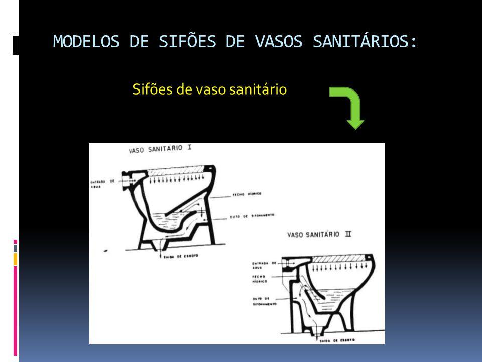 MODELOS DE SIFÕES DE VASOS SANITÁRIOS: Sifões de vaso sanitário