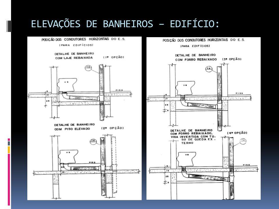 ELEVAÇÕES DE BANHEIROS – EDIFÍCIO: