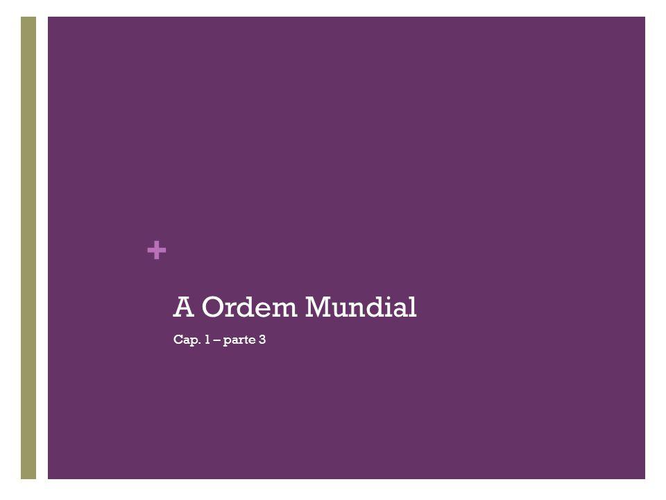 + A Ordem Mundial Cap. 1 – parte 3
