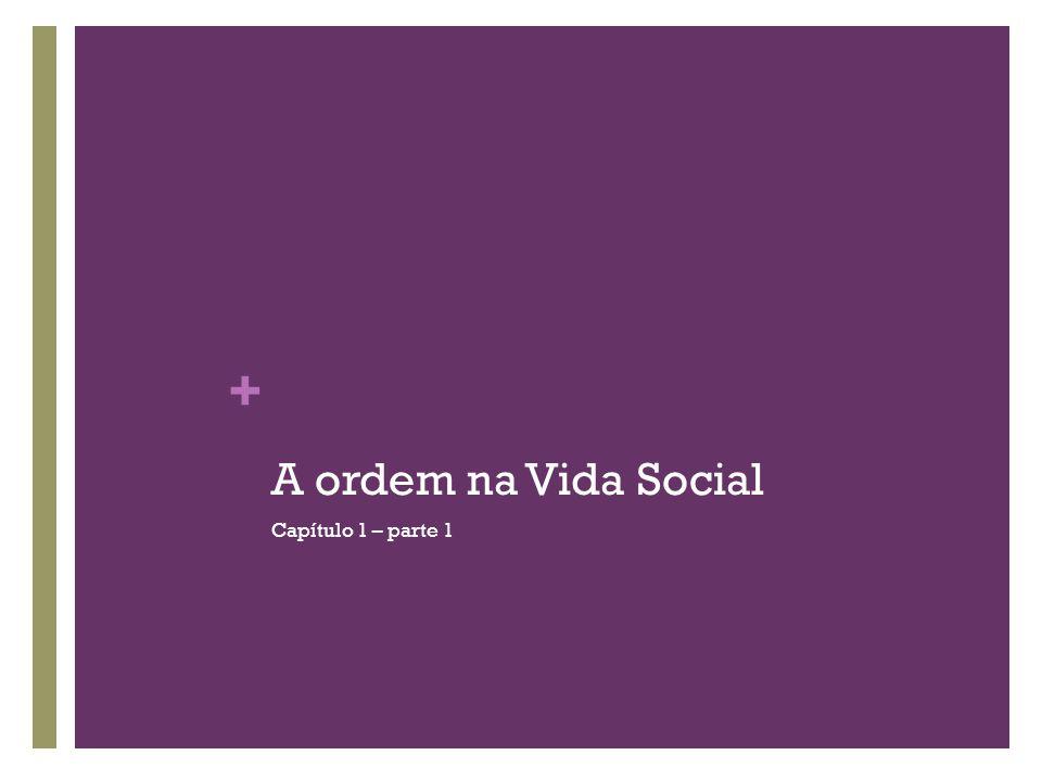 + A ordem na Vida Social Capítulo 1 – parte 1