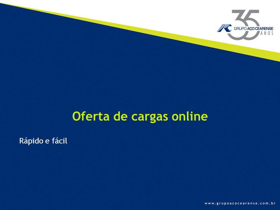 Oferta de cargas online Rápido e fácil