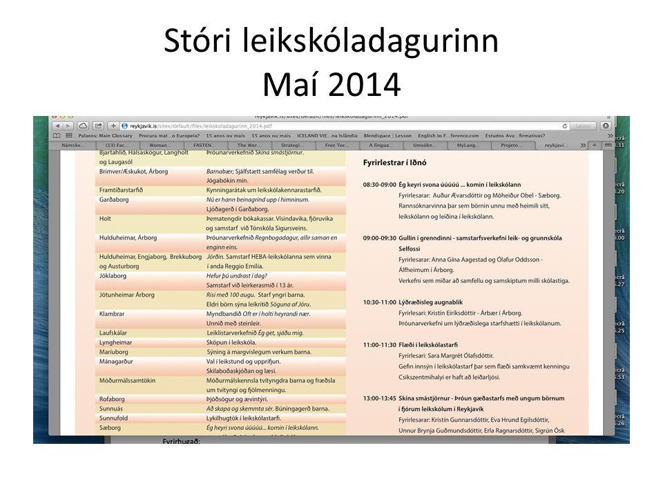 Tilnefning til Samfélagsverðlauns Fréttablaðsins Maí 2014