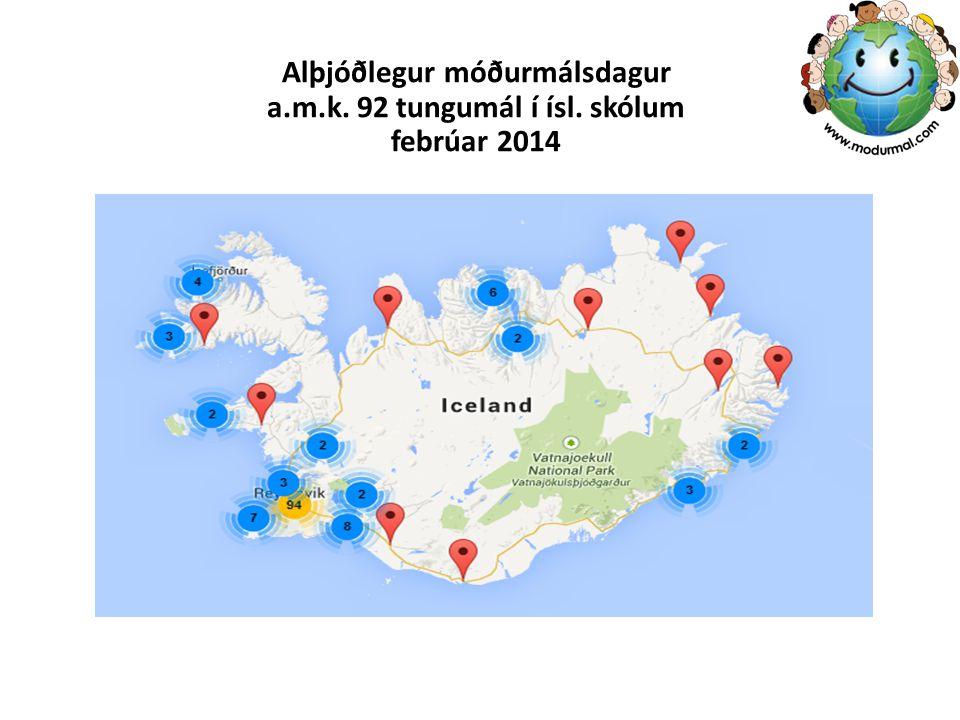 Alþjóðlegur móðurmálsdagur a.m.k. 92 tungumál í ísl. skólum febrúar 2014