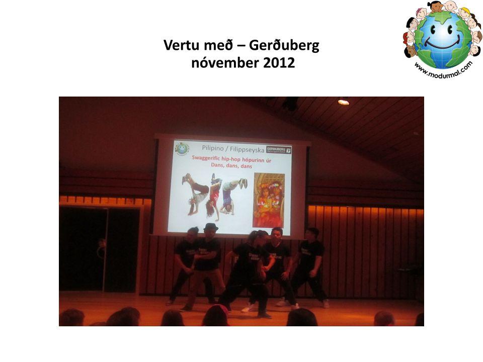 Vertu með – Gerðuberg nóvember 2012