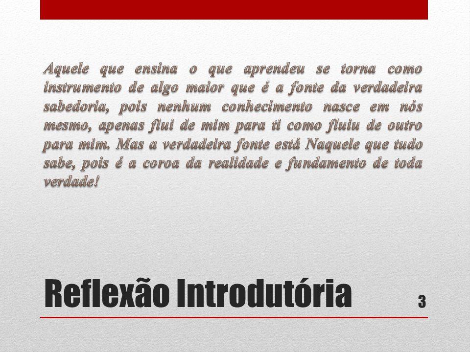 Reflexão Introdutória 3