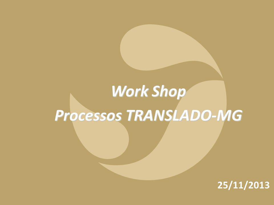 1 Work Shop Processos TRANSLADO-MG 25/11/2013