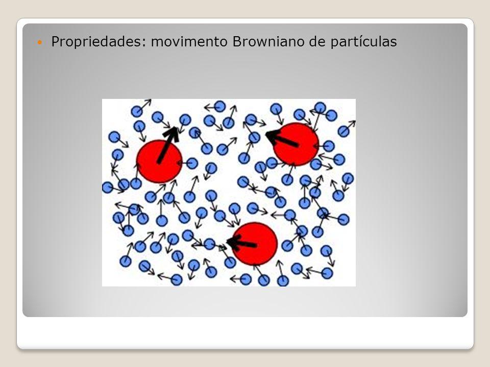Propriedades: movimento Browniano de partículas