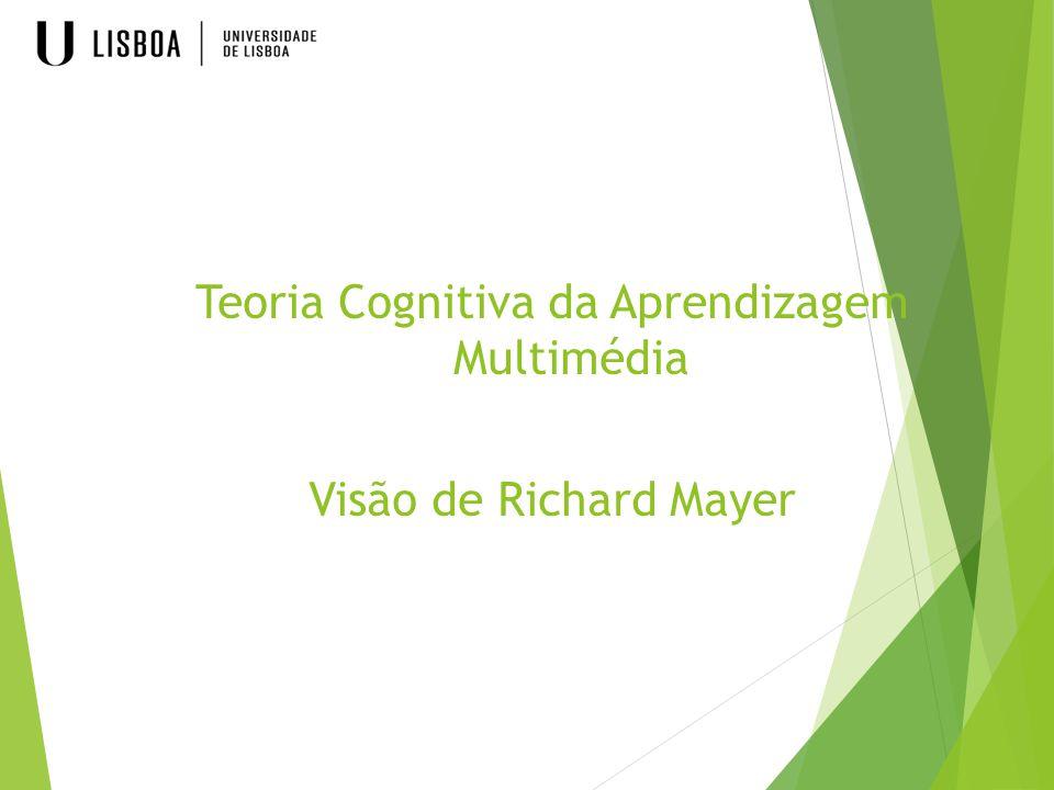 Teoria Cognitiva da Aprendizagem Multimédia Visão de Richard Mayer