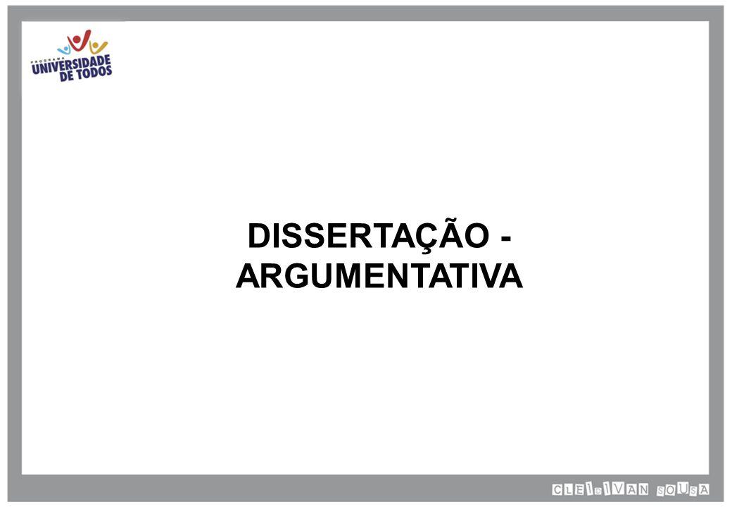 DISSERTAÇÃO - ARGUMENTATIVA