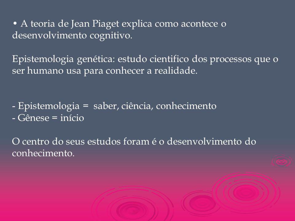 A teoria de Jean Piaget explica como acontece o desenvolvimento cognitivo. Epistemologia genética: estudo cientifico dos processos que o ser humano us