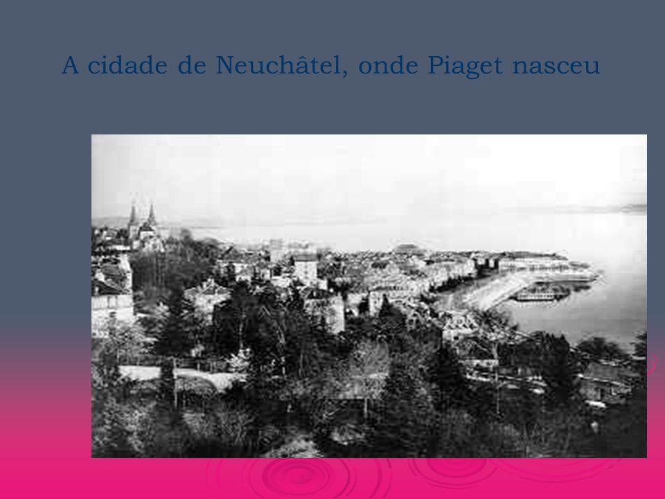 A cidade de Neuchâtel, onde Piaget nasceu