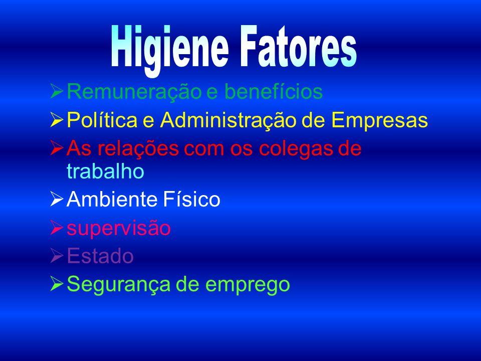  Remuneração e benefícios  Política e Administração de Empresas  As relações com os colegas de trabalho  Ambiente Físico  supervisão  Estado  S
