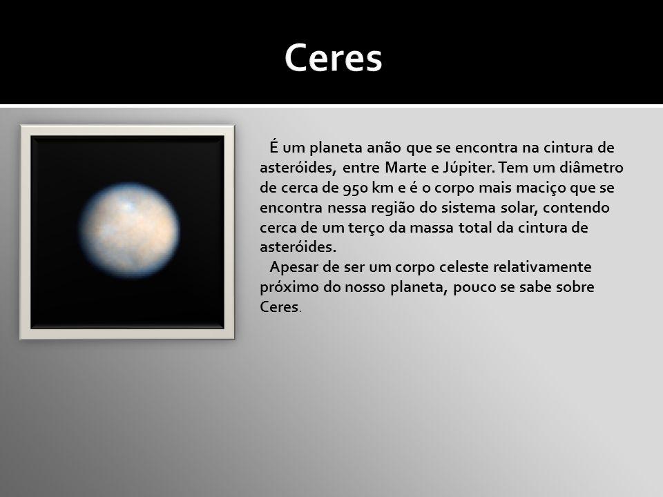 É um planeta anão que se encontra na cintura de asteróides, entre Marte e Júpiter.