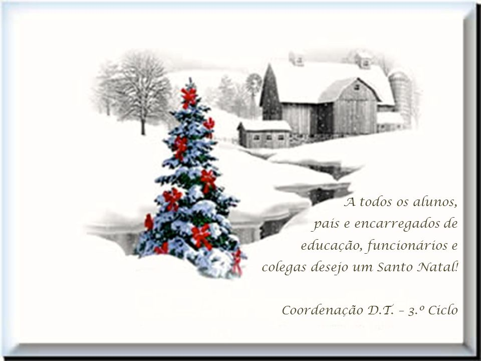 Que o Natal de todos nós seja uma estrela cintilante e que nos ilumine a vida. 5.º G