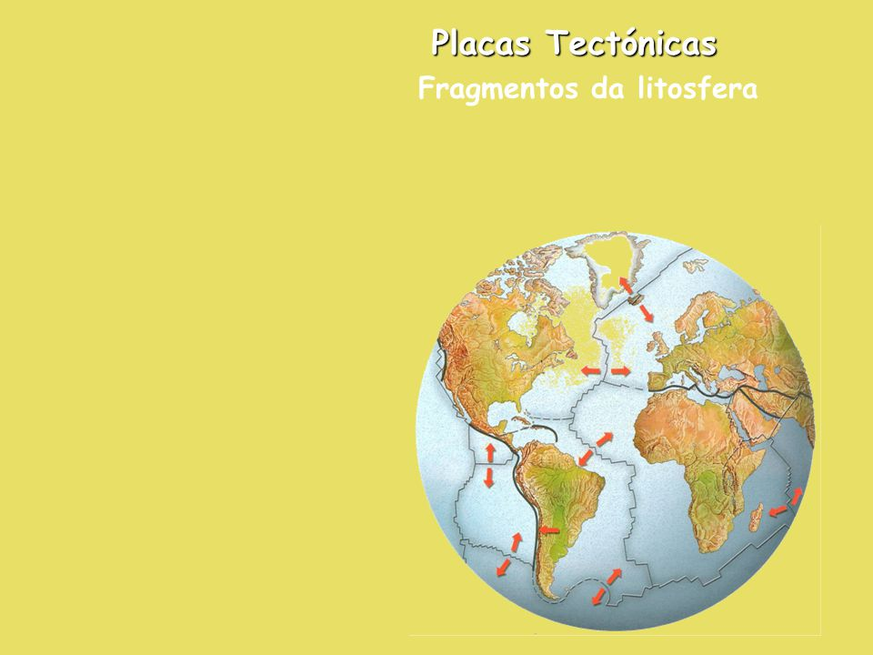 Placas Tectónicas Fragmentos da litosfera