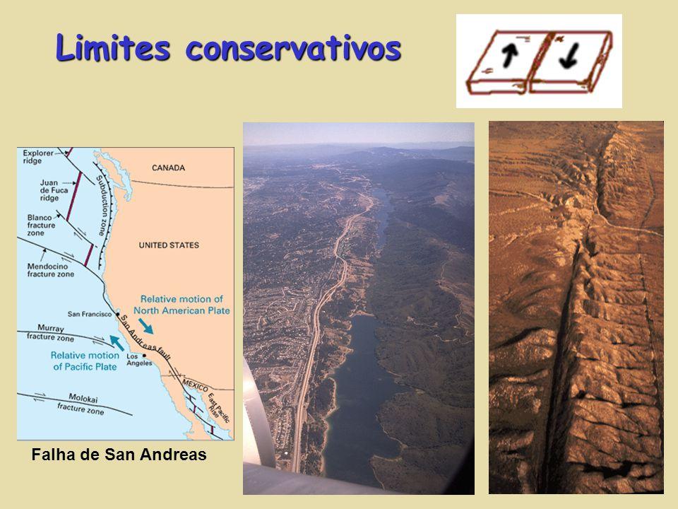 Limites conservativos Falha de San Andreas
