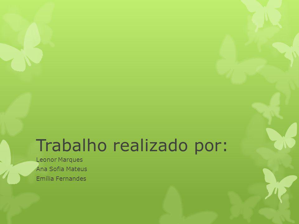 Trabalho realizado por: Leonor Marques Ana Sofia Mateus Emília Fernandes