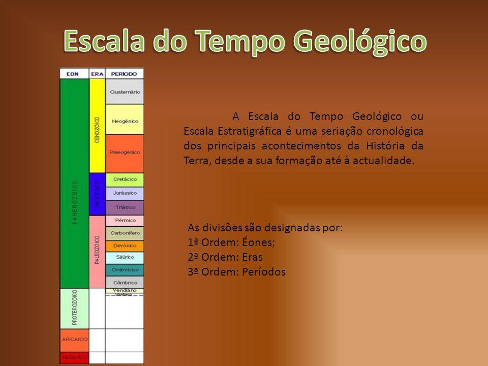A Escala do Tempo Geológico ou Escala Estratigráfica é uma seriação cronológica dos principais acontecimentos da História da Terra, desde a sua formaç