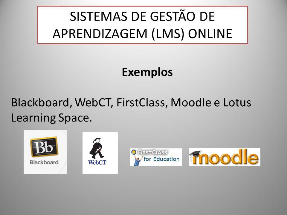 23 Exemplos Blackboard, WebCT, FirstClass, Moodle e Lotus Learning Space. SISTEMAS DE GESTÃO DE APRENDIZAGEM (LMS) ONLINE