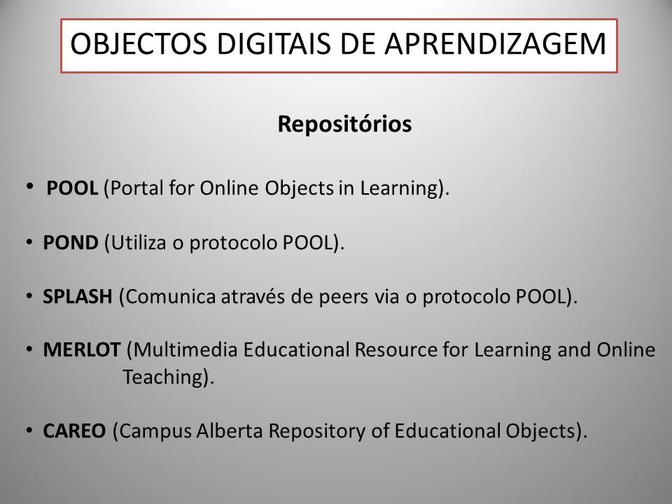 25 Repositórios POOL (Portal for Online Objects in Learning). POND (Utiliza o protocolo POOL). SPLASH (Comunica através de peers via o protocolo POOL)