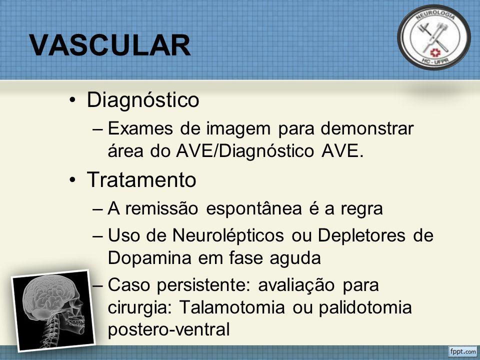 Diagnóstico –Exames de imagem para demonstrar área do AVE/Diagnóstico AVE.