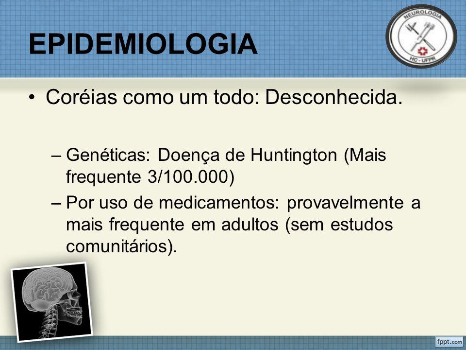EPIDEMIOLOGIA Estudos em centros terciários: 50% de causa vascular.