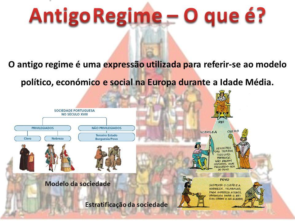O antigo regime é uma expressão utilizada para referir-se ao modelo político, económico e social na Europa durante a Idade Média.