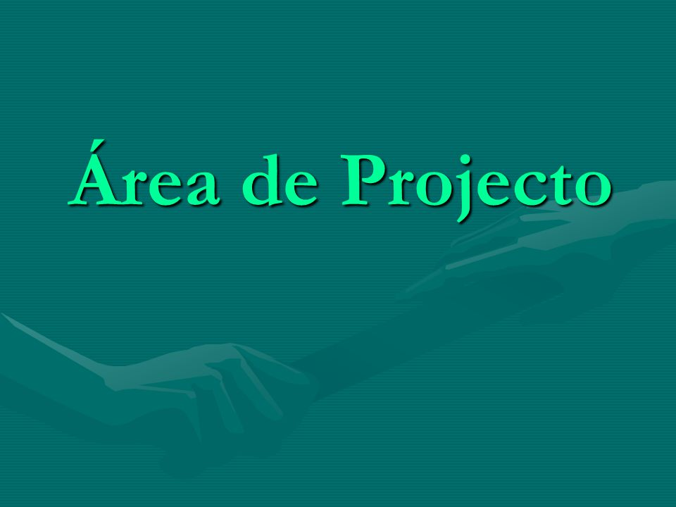 Área de Projecto