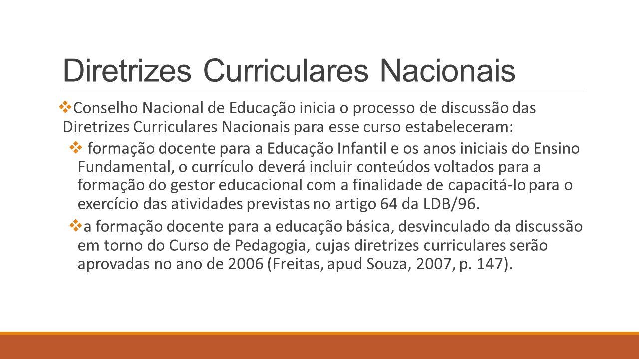 Diretrizes Curriculares Nacionais  Conselho Nacional de Educação inicia o processo de discussão das Diretrizes Curriculares Nacionais para esse curso