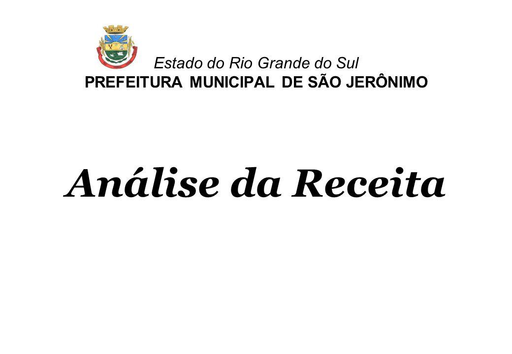 Estado do Rio Grande do Sul PREFEITURA MUNICIPAL DE SÃO JERÔNIMO Análise da Receita