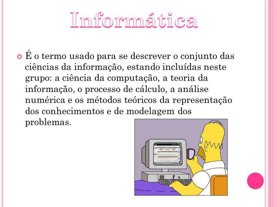 É o termo usado para se descrever o conjunto das ciências da informação, estando incluídas neste grupo: a ciência da computação, a teoria da informaçã