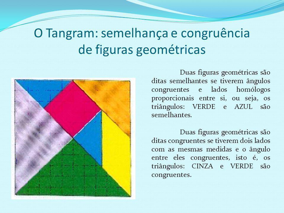 O Tangram e a simetria Estudo da simetria de estruturas geométricas.