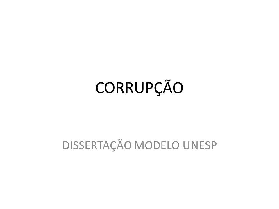 CORRUPÇÃO DISSERTAÇÃO MODELO UNESP