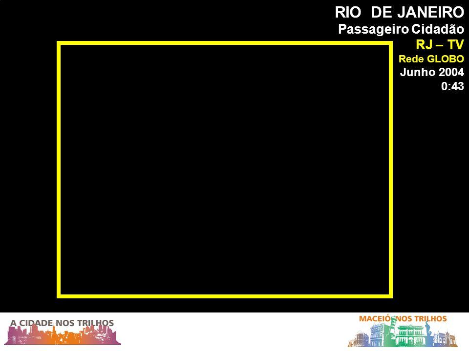 RIO DE JANEIRO Passageiro Cidadão RJ – TV Rede GLOBO Junho 2004 0:43