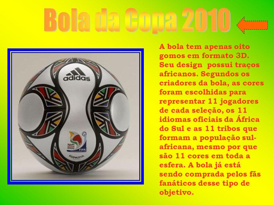 A bola tem apenas oito gomos em formato 3D. Seu design possui traços africanos.