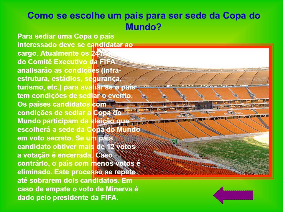 Como se escolhe um país para ser sede da Copa do Mundo.