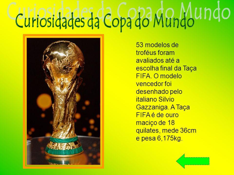 53 modelos de troféus foram avaliados até a escolha final da Taça FIFA.