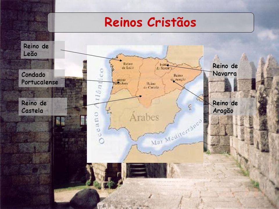 Reinos Cristãos Reino de Leão Condado Portucalense Reino de Castela Reino de Navarra Reino de Aragão