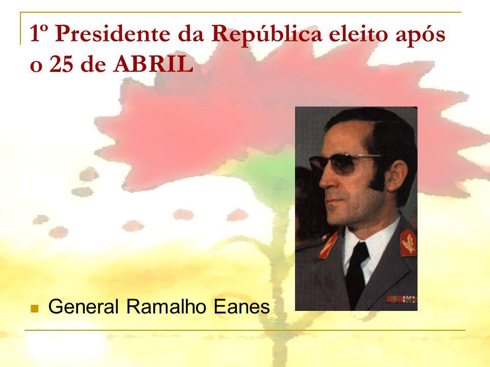 1º Presidente da República eleito após o 25 de ABRIL General Ramalho Eanes