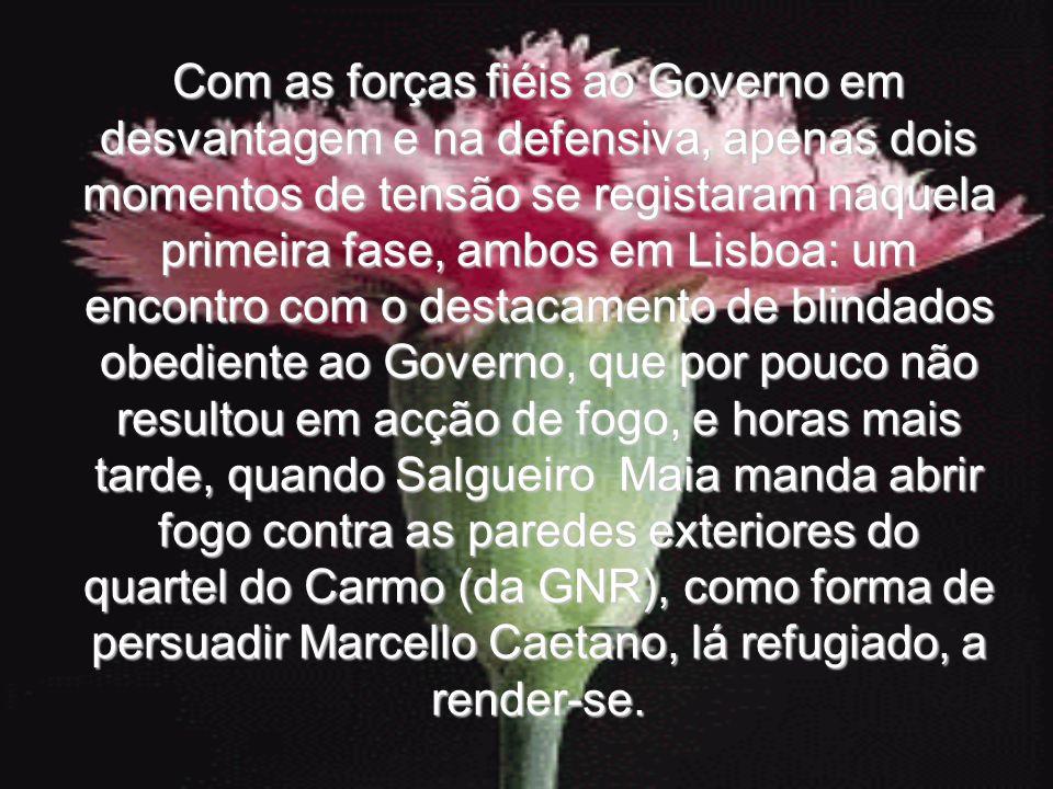 Com as forças fiéis ao Governo em desvantagem e na defensiva, apenas dois momentos de tensão se registaram naquela primeira fase, ambos em Lisboa: um