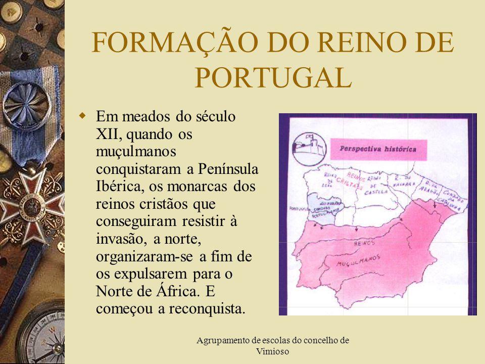 Agrupamento de escolas do concelho de Vimioso APRESENTAÇÕES EM POWERPOINT Formação do Reino de Portugal