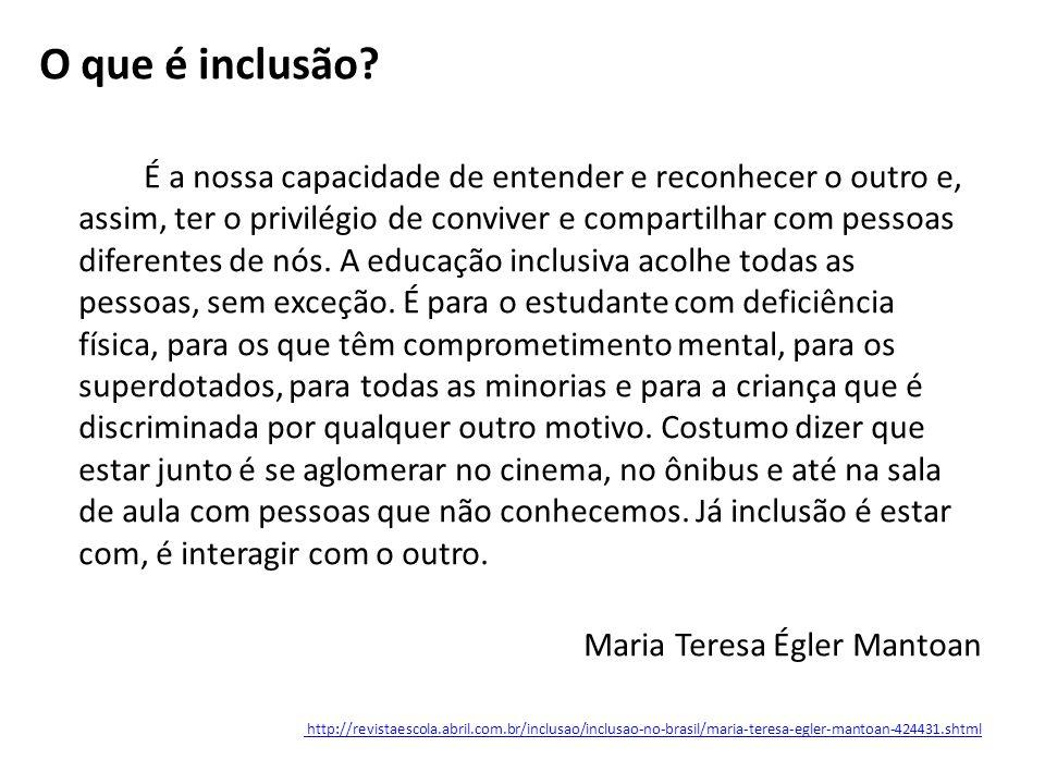 O que é inclusão.
