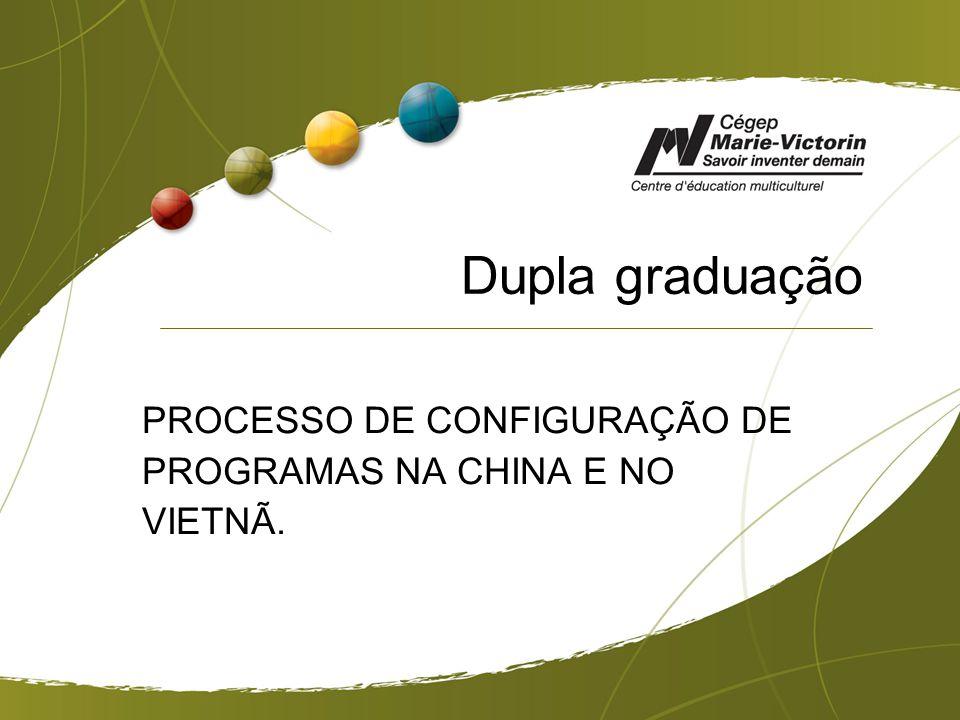 Dupla graduação PROCESSO DE CONFIGURAÇÃO DE PROGRAMAS NA CHINA E NO VIETNÃ.