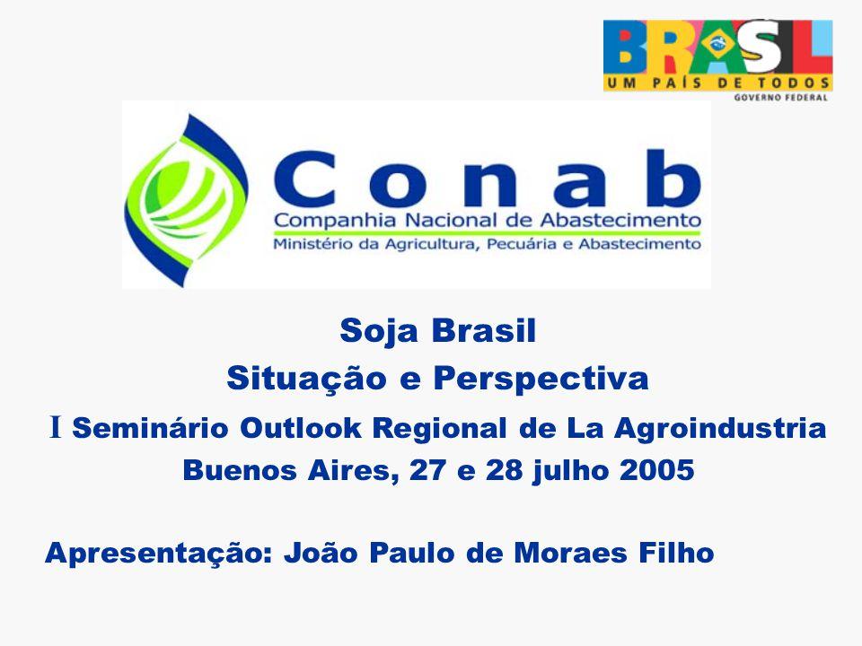 Soja Brasil Situação e Perspectiva I Seminário Outlook Regional de La Agroindustria Buenos Aires, 27 e 28 julho 2005 Apresentação: João Paulo de Moraes Filho