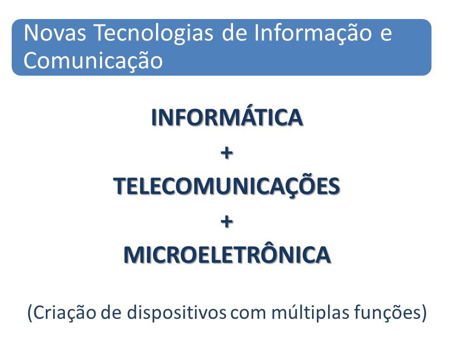 INFORMÁTICA+TELECOMUNICAÇÕES+MICROELETRÔNICA (Criação de dispositivos com múltiplas funções) Novas Tecnologias de Informação e Comunicação