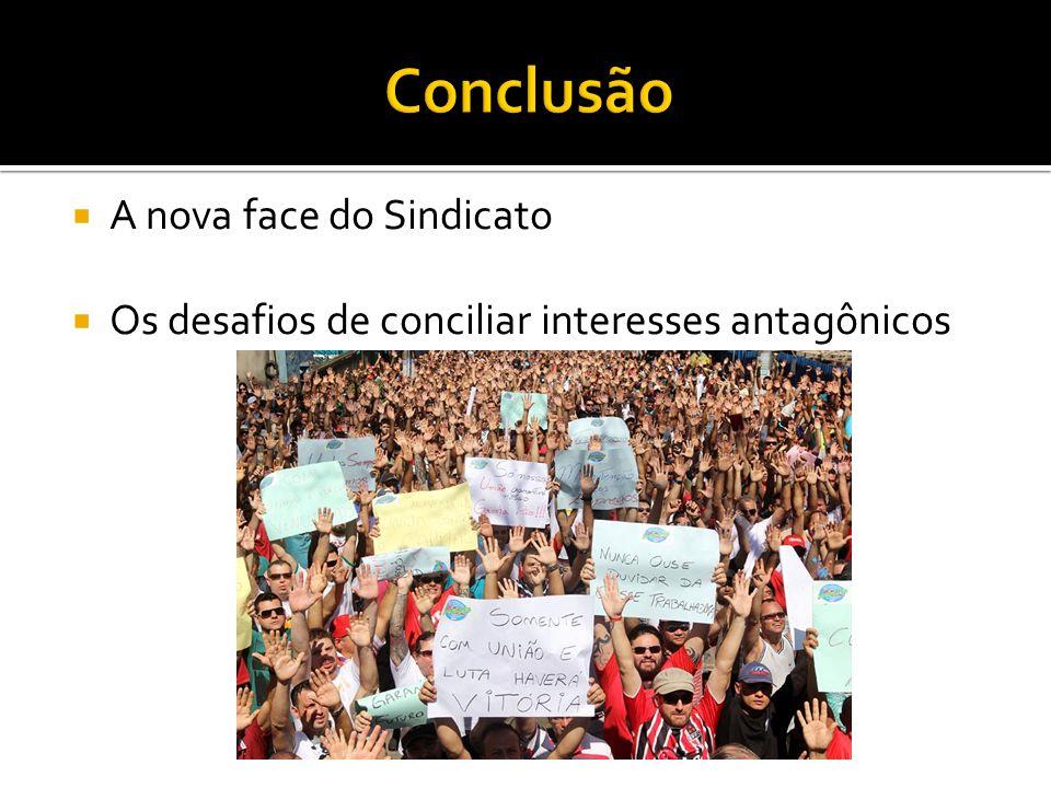  A nova face do Sindicato  Os desafios de conciliar interesses antagônicos
