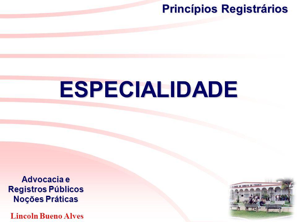 Lincoln Bueno Alves Advocacia e Registros Públicos Noções Práticas Princípios Registrários ESPECIALIDADE