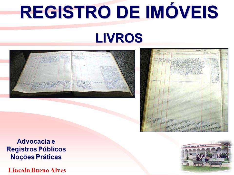 Lincoln Bueno Alves Advocacia e Registros Públicos Noções Práticas REGISTRO DE IMÓVEIS LIVROS