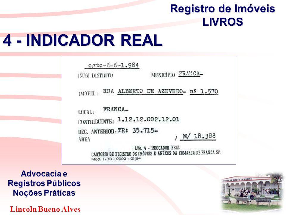 Lincoln Bueno Alves Advocacia e Registros Públicos Noções Práticas 4 - INDICADOR REAL Registro de Imóveis LIVROS